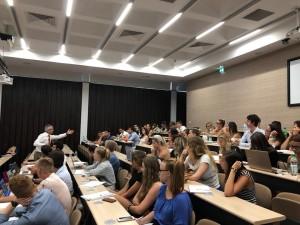 Dr Jotham Scerri Diacono delivering lecture